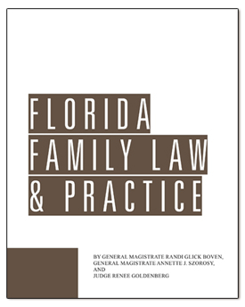 Two volume book, Florida Family Law & Practice James Publishing.